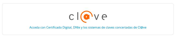 Acceda con certificado digital, DNIe y los sistemas @Clave